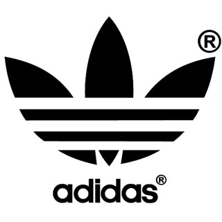 The Adidas logo --a trishula with three stripes, representing the three gunas.