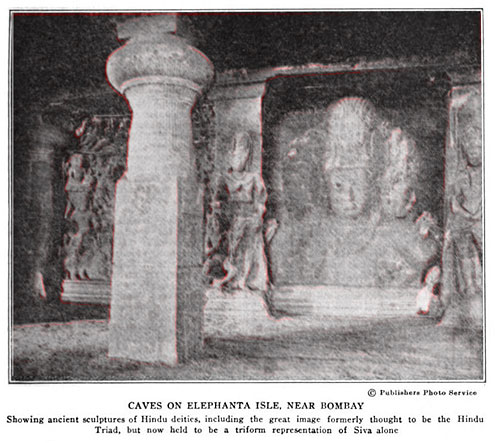 Brahmanism: Caves on Elephanta Isle, Near Bombay.