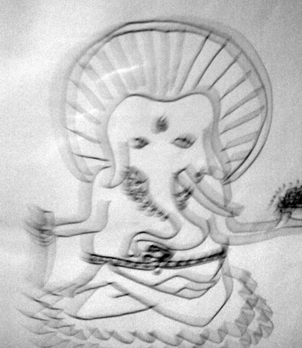 Lord Ganesha as depcited by the poet <???> in a letter to Kerouac.