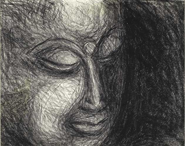 Kerouac painting: The Face of the Buddha.