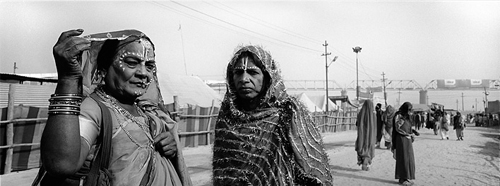 Indian cross dressers at the Ardha Kumbha Mela.
