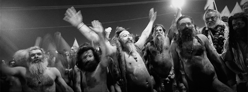 The Naga Babas at the 2007 Ardha Kumbha Mela.