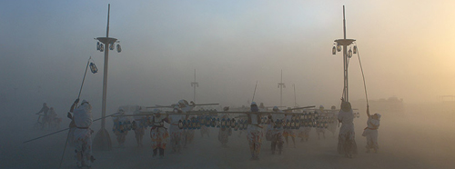 The Lamp Lighters at Burning Man.