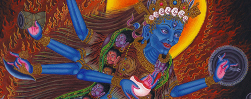 Contemporary Newar Art represented by Siddhartha Shah: Bhadrakali.