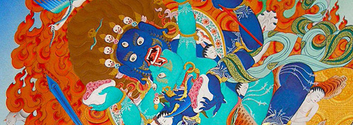 Contemporary Newar Art represented by Siddhartha Shah: Mahakala Yabyum.