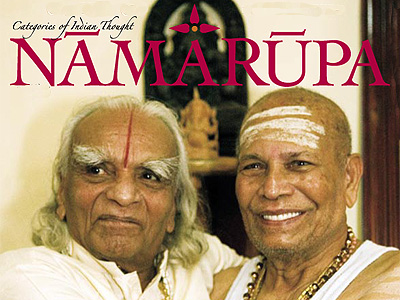 Sri K Pattabhi Jois and BKS Iyengar on the cover of Namarupa magazine.