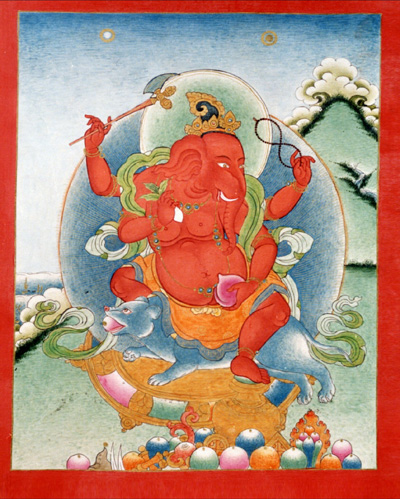 Ganapati: Tibet, Buddhist lineage, early 20th century.