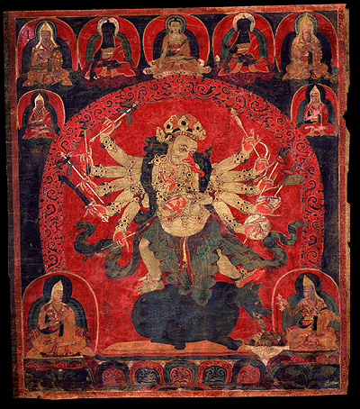Ganapati - Red (12 hands): Tibet, Gelug lineage, 17th century.
