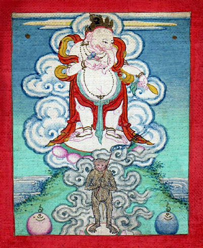 Ganapati - Red (4 hands): Mongolia, Buddhist lineage, 19th century.