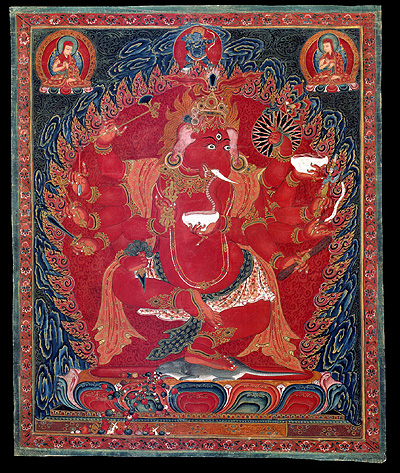 Ganapati - Red (12 hands): Tibet, Sakya (Ngor + Buddhist) lineages, 16th century.