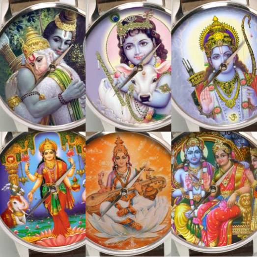 On the face of things: Indian Gods wristwatches.